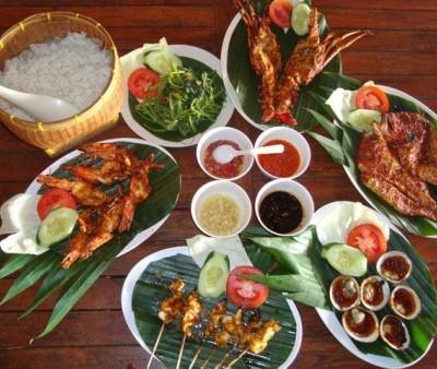 Balinese cuisine set
